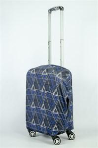 """Чехол для маленького чемодана """"треугольники на черном фоне"""" 13879"""
