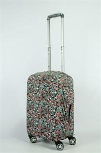 """Чехол для маленького чемодана """"разноцветная матрица"""" 13880"""