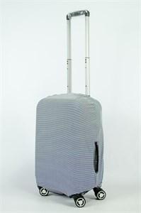 """Чехол для маленького чемодана """"тонкие черно-белые полосы"""" 13848"""