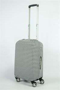 """Чехол для маленького чемодана """"черно-белая клетка"""" 13847"""