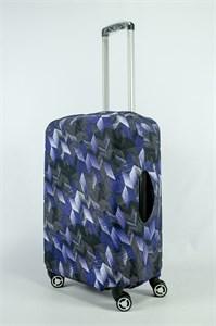 """Чехол для среднего чемодана """"бело-сине-черные стрелки"""" 13877"""