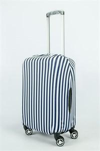 """Чехол для маленького чемодана """"вертикальная тельняшка"""" 13850"""