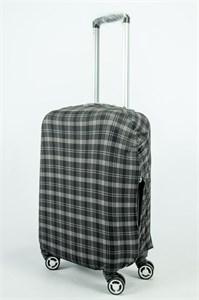"""Чехол для маленького чемодана """"черно-серая клетка"""" 13884"""