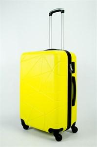 Чемодан средний ABS (паутинка) желтый