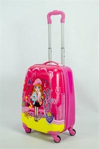 Детский чемодан PC на колесиках розовый 13912