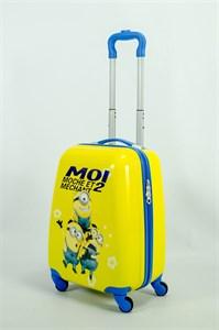 Детский чемодан PC на колесиках синий  13910