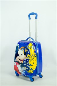 Детский чемодан PC на колесиках синий  13948