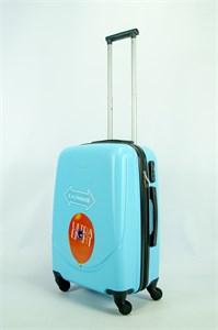Чемодан средний ABS 360-гр smile  небесно-голубой  ЧФ OZ