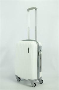 Чемодан маленький ABS TT (верт  полоски) белый СФ