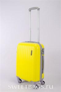 Чемодан средний ABS TT (верт  полоски) желтый СФ OZ