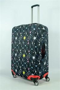 """Чехол для большого чемодана """"космос"""" 13975"""