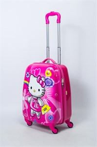 Детский чемодан PC на колесиках розовый 13911