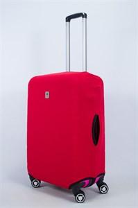"""Чехол для среднего чемодана """"однотонный красный"""" 14014"""