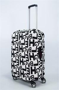 """Чехол для среднего чемодана """"изображение надписи"""" 14017"""