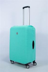 """Чехол для среднего чемодана """"однотонный мятный"""" 14013"""