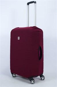 """Чехол для среднего чемодана """"однотонный бордовый"""" 14009"""
