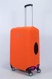 """Чехол для среднего чемодана """"однотонный оранжевый"""" 14012"""