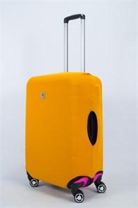 """Чехол для среднего чемодана """"однотонный горчичный"""" 14016"""