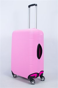 """Чехол для среднего чемодана """"однотонный розовый"""" 14015"""