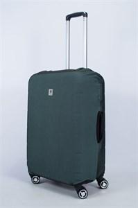 """Чехол для среднего чемодана """"однотонный серо-зеленый"""" 14011"""