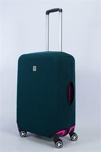 """Чехол для среднего чемодана """"однотонный темно-зеленый"""" 14008"""