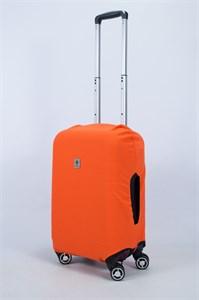 """Чехол для маленького чемодана """"однотонный оранжевый"""" 14002"""