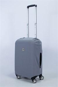 """Чехол для маленького чемодана """"однотонный серый"""" 14003"""