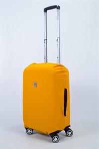 """Чехол для маленького чемодана """"однотонный горчичный"""" 14005"""
