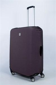 """Чехол для большого чемодана """"однотонный бурый""""  14026"""