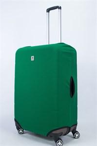 """Чехол для большого чемодана """"однотонный зеленый""""  14020"""