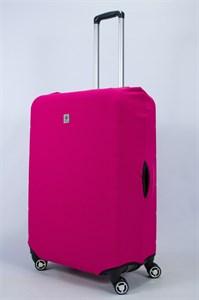 """Чехол для большого чемодана """"однотонный малиновый""""  14023"""