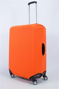 """Чехол для большого чемодана """"однотонный оранжевый""""  14024"""