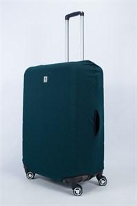 """Чехол для большого чемодана """"однотонный темно-зеленый""""  14019"""