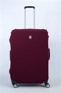 """Чехол для большого чемодана """"однотонный бордовый""""  14022"""