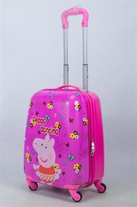 Детский чемодан PC на колесиках розовый 14086