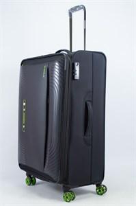 Чемодан текстильный большой ultra lightweight mironpan чёрный