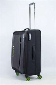 Чемодан текстильный средний ultra lightweight mironpan чёрный