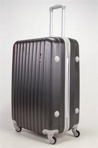 Чемодан большой ABS TT (верт  полоски) черный