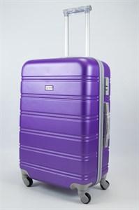 Чемодан средний ABS Union (гориз. полосы) фиолетовый