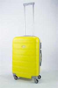 Чемодан маленький ABS Union (гориз. полоски) жёлтый