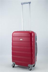 Чемодан маленький ABS Union (гориз. полоски) красный