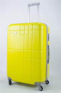 Чемодан большой ABS Union (кубик) жёлтый