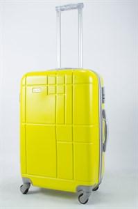 Чемодан средний ABS Union (кубик) жёлтый