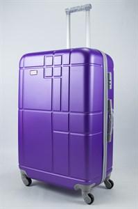 Чемодан большой ABS Union (кубик) фиолетовый