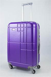 Чемодан средний ABS Union (кубик) фиолетовый