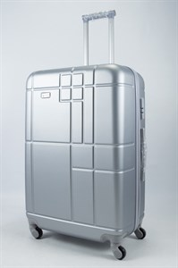 Чемодан большой ABS Union (кубик) серебристый