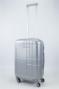 Чемодан маленький ABS Union (кубик) серебристый