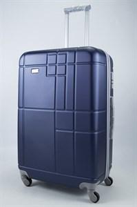 Чемодан большой ABS Union (кубик) темно - синий