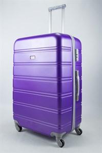 Чемодан большой ABS Union (гориз. полосы)  фиолетовый