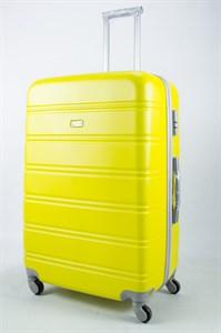 Чемодан большой ABS Union (гориз. полосы)  жёлтый